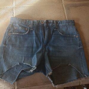 Rag & Bone Dre Boyfriend Shorts Size 24 NEW